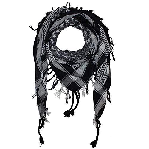Superfreak Palituch - Sterne schwarz - weiß - 100x100 cm - Pali Palästinenser Arafat Tuch - 100% Baumwolle