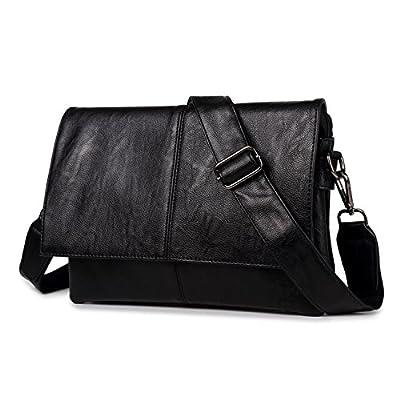 Outreo Sac Besace Cuir Sac Voyage Sac bandoulière Homme Sac Porté épaule Vintage Sacoche de Cours pour Université sac de tablette