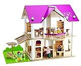 Eichhorn 100002513 - Villa, 27-teilig, inklusive Möbeln und 4 Puppen - 50 x 75 x 55 cm, unmontiert