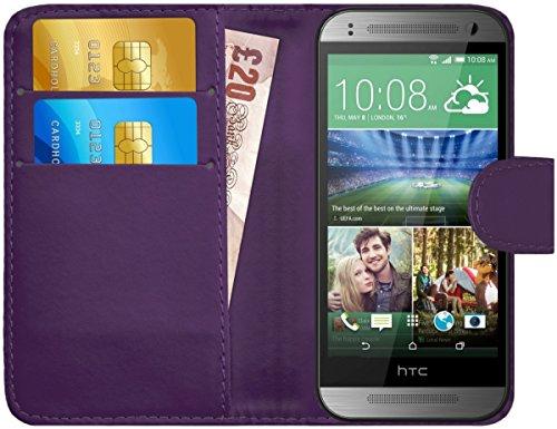 G-Shield Hülle für HTC Mini 2 Klapphülle mit Kartenfach - Lila