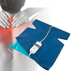 Almohadilla electrica calor espalda y cuello 3 niveles temperatura 60W 40x38cm