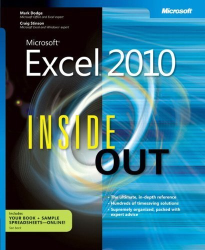 Microsoft Excel 2010 Inside Out by Stinson, Craig, Dodge, Mark (2010) Paperback