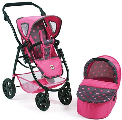 Bayer Chic 2000 638 82 Kombi-Puppenwagen Emotion 2 in 1, Sternchen Pink Preisvergleich