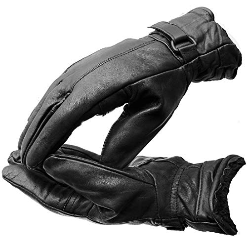 Right Choice Hand Gloves,Winter Gloves,Hand Gloves for Men,Hand Gloves for Women Unisex Genuine Leather Winter Driving Riding Gloves for Bike,Black (RCL21)