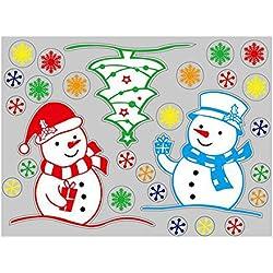 Eizur Natale Rimovibile Adesivi Finestra Vetrofanie DecorazioneFai da te Murali Vetrina Display Wallpaper Finestra vetro Vetrina Parete Sfondo - Tipo B