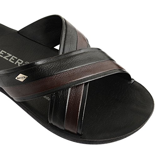 Footwear Sensation ,  Herren Slipper, Pantoletten Zambezi Black Brown