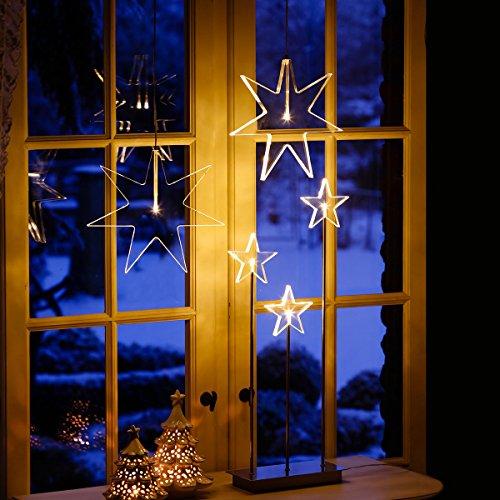 fensterstern Gärtner Pötschke LED-Fensterstern Kristall Weihnacht