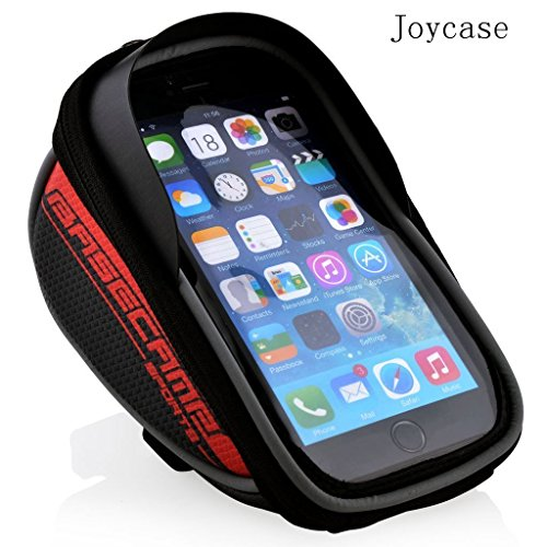 Joycase® New Design 4-5.5-inch Waterproof Touch-screen Dual Zipper 2.5L Capacity Mountain Cycling Bicycle Bike Road Front Frame Bag Tube Pannier Rack Trunk Saddle Bag Fit for iPhone 6 6s Plus / Sony Z Series (4-5.5-inch Phone) - Red -