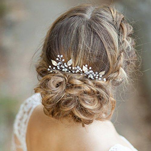 Aukmla Haarnadeln für Frauen auf Hochzeit Party oder im Alltag (2 Stück) - 4