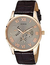 Guess Herren-Armbanduhr Analog Quarz Leder W0608G1