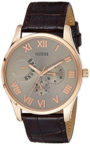 Guess-hombre-reloj-analgico-de-cuarzo-cuero-W0608G1