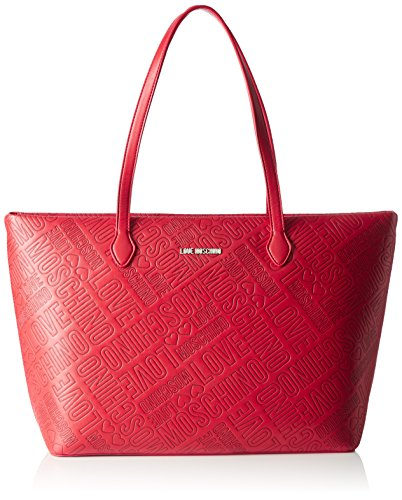 Love Moschino JC4029, Tote Donna, Rosso (Red), 13x28x49 cm (B x H x T)