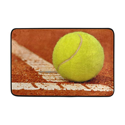 jstel Tennis-Fußmatte waschbar Garten Büro Fußmatte, Küche ESS-Living Badezimmer Pet Eintrag Teppiche mit Rutschfeste Unterseite