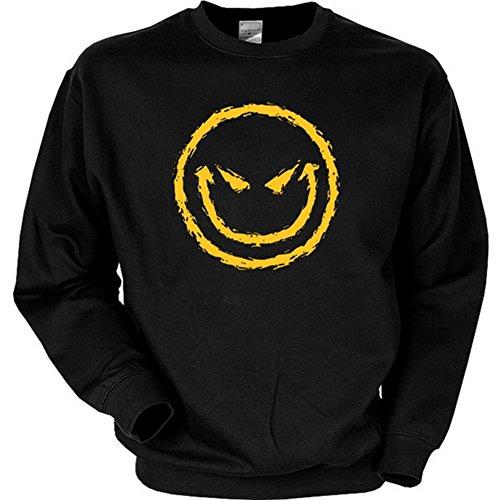 Sweatshirt - Halloween - Böser Smiley - USA Sweater mit Motiv als gruseliges Geschenk zu Halloween