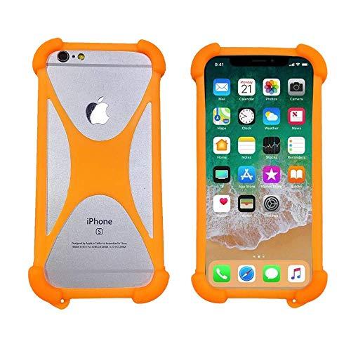 ABCTen Handyhülle für Acer Liquid E700 Z220 Z330 Z320 Z500 Z520 Z530 Z630 Silikon Schutz Hülle Cover Case Bumper Tasche Elastischem Weiche Ecken Anti-Shock Stoßfest Kissen (Orange)