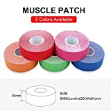 #10: Red : 5M*2CM Elastic Sports Taping Athletic Taping Strapping Good Quality Football Knee Pad Muscle taping Strap Bandage