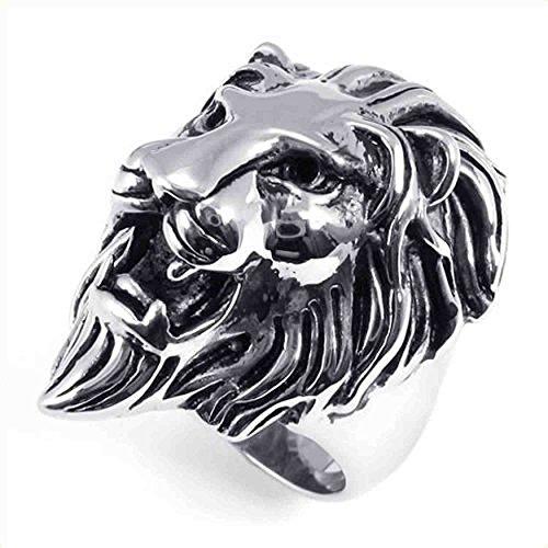 AnaZoz Edelstahl Lion Biker Retro Herren Ring Größe 59 (18.8) Modeschmuck Herren-lion-ringe Aus Edelstahl