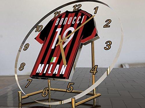 Serie A–Italienischen Fußball Shirt Desktop Uhren–Jeder Name, beliebige, jedes Team, kostenlose Personalisierung. AC Milan