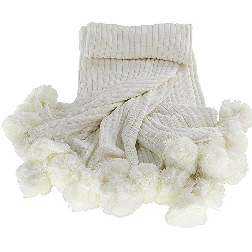 MYLUNE HOME 100% Baumwolle Mode Gestrickte Decke auf Stuhl Sofa und Bett für Bettwäsche und schlafende 150x200cm (Sofa, Decken, Bettwäsche)