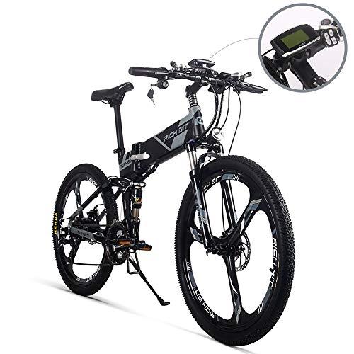 RICH BIT 860 Bicicleta eléctrica de montaña Plegable con 21 velocidades 36V 250W