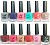 #7: Velvet Matte Nail Polish (Set of 12 Nail Polish) Red,Grey,Turrquoise,Purple,Nude,Red,Pink,Pink,Red,Black,Pink,Nude