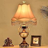 ZYCkeji Zart Harz Tischlampe, Retro-Stil Schlafzimmer Nachttischlampe Villa Lampe Ehe Zimmer Tuch Tischlampe Leuchten... preisvergleich bei billige-tabletten.eu