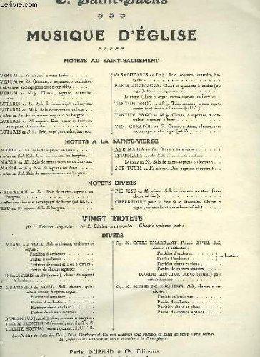 MUSIQUE D'EGLISE - AVE MARIA - A 2 VOIX EGALES + ORGUE.