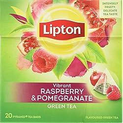 Lipton Grüner Tee, Himbeere Granatapfel Pyramidenbeutel, 20 Stück