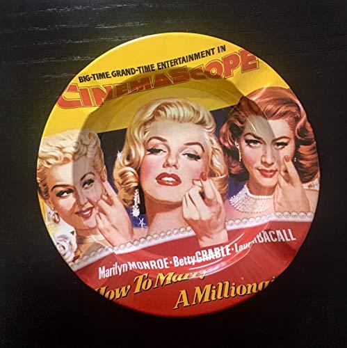 Cenicero vintage Marilyn Marlyn Yellow