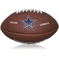 Wilson Football NFL Cowboys Logo Mini - Balón de fútbol americano (caucho), color marrón, talla Mini