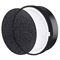 Bcamelys Air Purifier LV-H132 Replacement, True HEPA and Activated Carbon Filters Set, LV-H132-RF, Compatible with Home Air Purifier Removes Odors & Captures 99.7% of Allergens