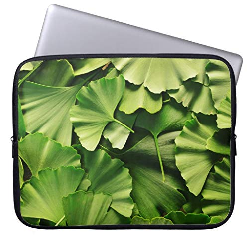 Ginkgo Biloba Tree Leaf Nature Plant Texture Pattern Computer Sleeve 11.6 12 Inch Laptop Sleeve Gifts for Women Men -