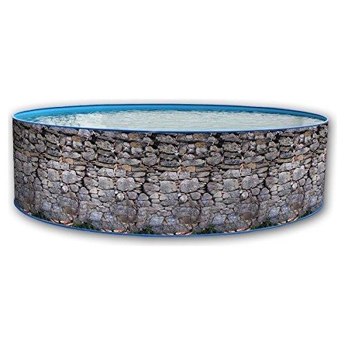 TOI PISCINAS Pool Toi Piedra Gris 350x90 cm.
