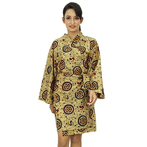 Les femmes portent Obtenir court Coton Robe demoiselle honneur Spa Prêt Robe Beige