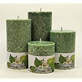 Lyallpur Stores Scented 100% Pure Wax Pillar Candles, Highly Fragranced (Tea Tree),Set Of 4 Scented Pillar Candles
