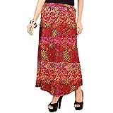 SFDS Women's Red Cotton Skirt