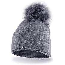 Pacchetto Cappello termico invernale da donna berretto di misura universale  in materiale gentile con la pelle 8735d379c72a