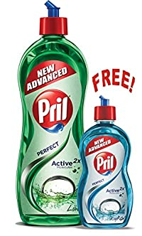 Pril Dish Washing Liquid - 750 ml with Free Pril Kraft - 225 ml
