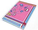 Schreibwandel Spiralblock Hardcover pink, A4, 150 Blatt = 300 Seiten, beidseitig liniert, 80 g/qm, Notizblock, Tagebuch, Schreibblock mit Affirmation: Mein Leben ist schön