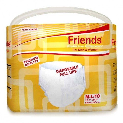 Friends Disposable Pull-ups – Medium-Large – Case of 10 pull-up packs (100 total)