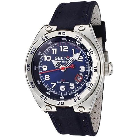 Sector - R3251177035 - Sk-Eight - Montre Homme - Quartz Analogique - Cadran Bleu - Bracelet en Tissue Bleu