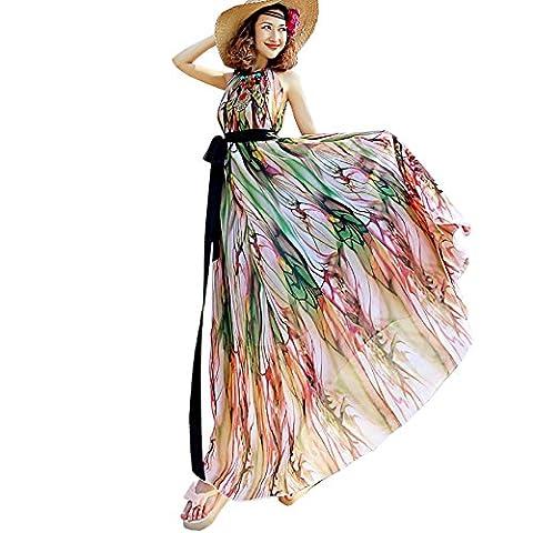 Years Calm - Robe - Dos nu - Sans Manche - Femme - multicolore - Taille Unique