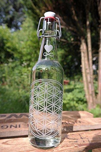freiglas 0,5 l Gourde en verre Fleur de Vie ~ ~ Fabriqué en forêt noire ~