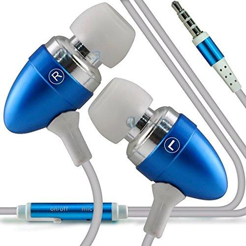 I-Sonite (Baby Blue Qualitäts-Kopfhörer/Kopfhörer 3,5 mm Klinke mit Mikrofon und EIN/Aus-Taste Antwort freihändig für Cube Power M3