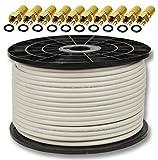 100m Koaxialkabel Sat Koax Kabel 130dB PremiumX