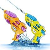 PluieSoleil Pistolas de Agua Juegos de Agua con Rifle de Agua Juegos de Tiro Grandes para Juegos al Aire Libre