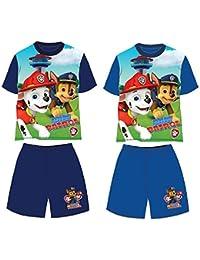 Patrulla Canina- Conjunto de Pantalon y Camiseta Manga Corta Verano (3, azul)