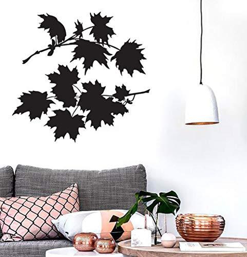 Bush-schlafzimmer-möbel (yiyitop Blätter Ahornbaum Wandaufkleber für Schlafzimmer Bush Schöne Blütenblätter Vinyl Aufkleber Moderne Natur Wohnzimmer Innendekoration 59 * 56 cm)