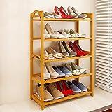 Livzing 5-tier multiuse bamboo wood shoe rack slipper shelf household storage holder organizer