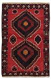 Morgenland Afghan BELUTSCH Teppich 135 x 77 cm Rot Handgeknüpft Gebetsteppich